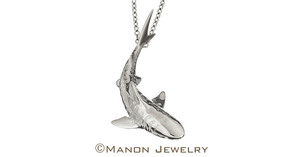 Sterling silver shark by manon jewelry s300