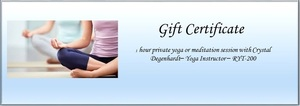 Yoga gift certificate   crystal s300