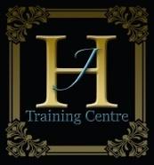 Jh training centre logo on black s300