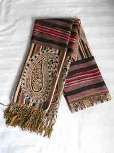 Red brown scarf s300